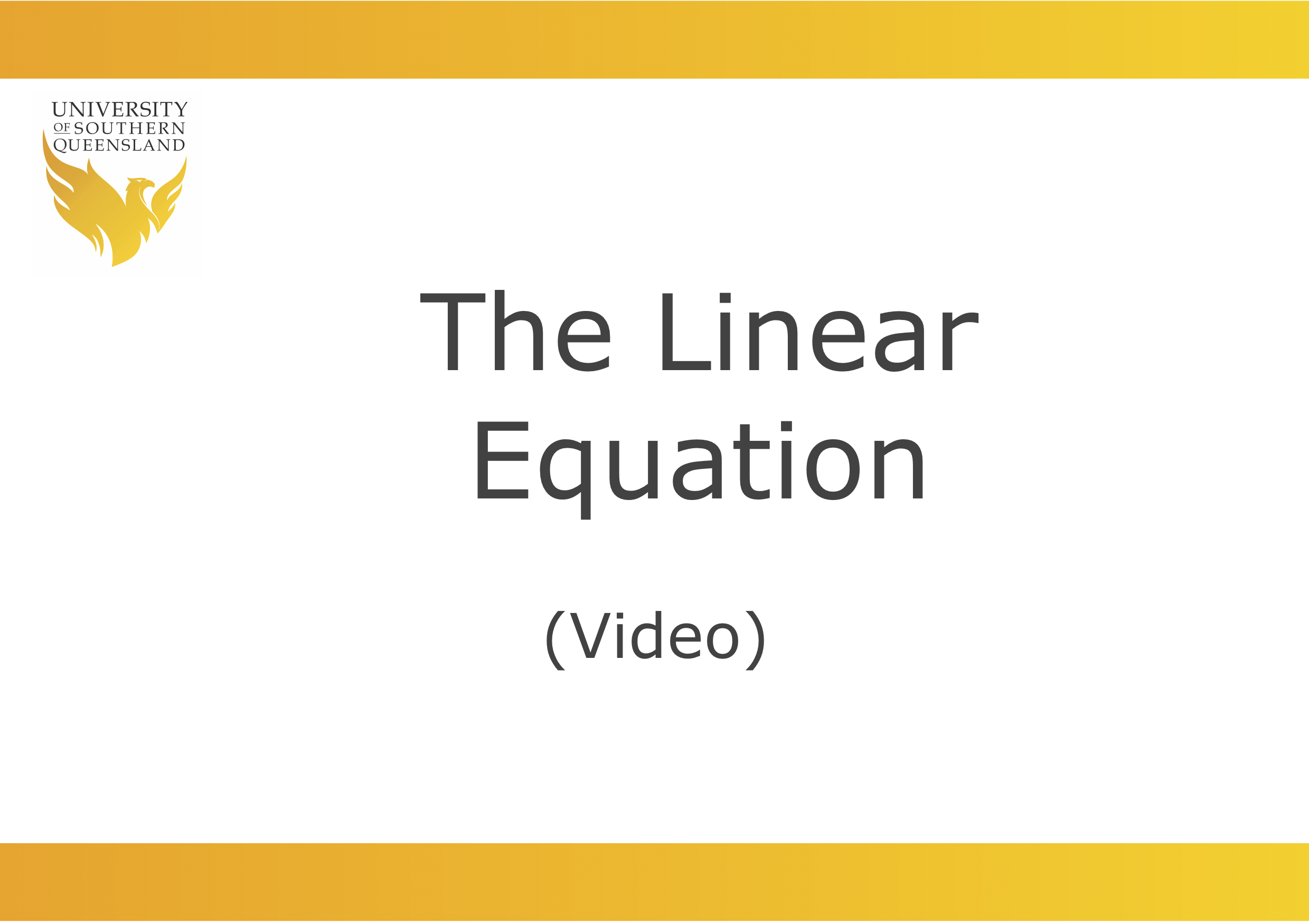 Image to play the video for the linear equation