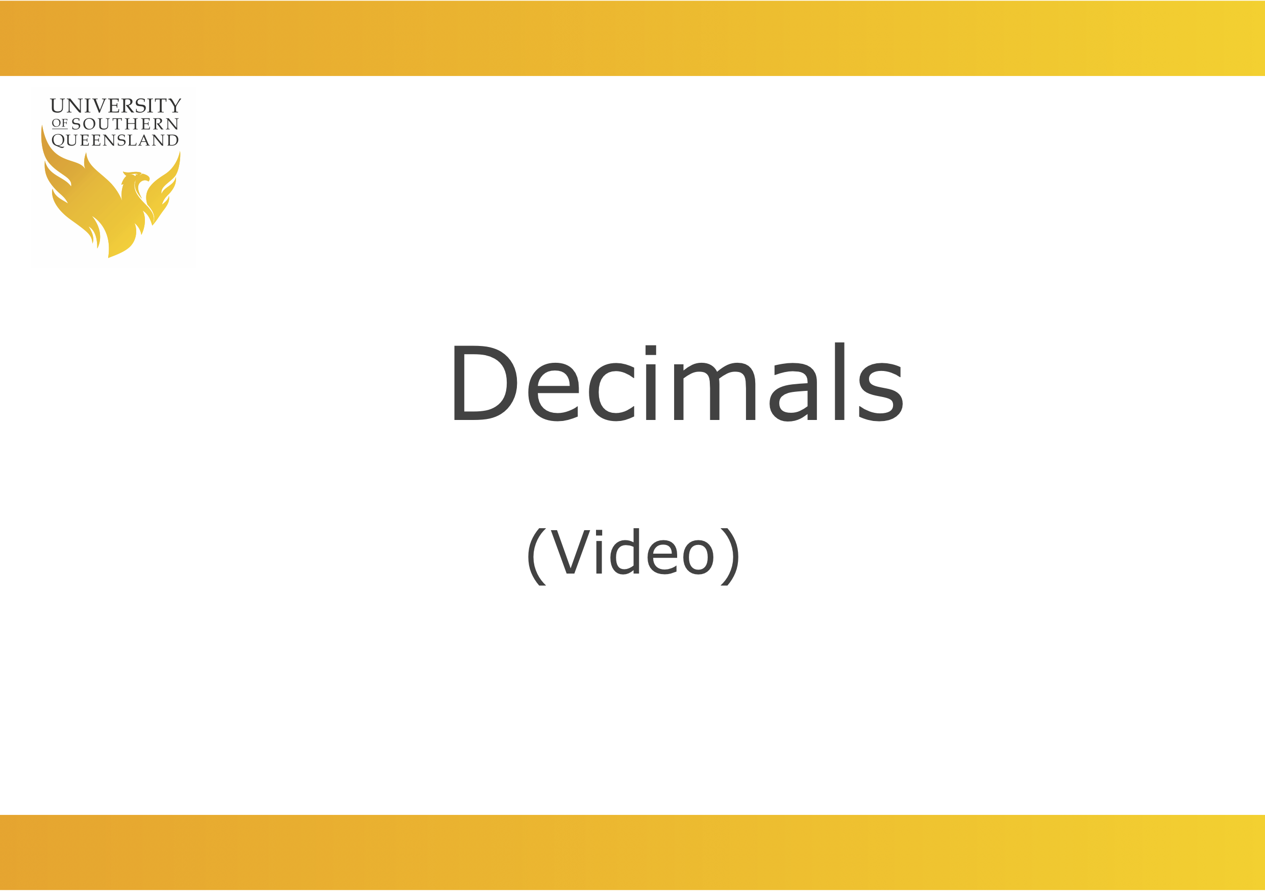 Decimals: Fractions in other forms video link