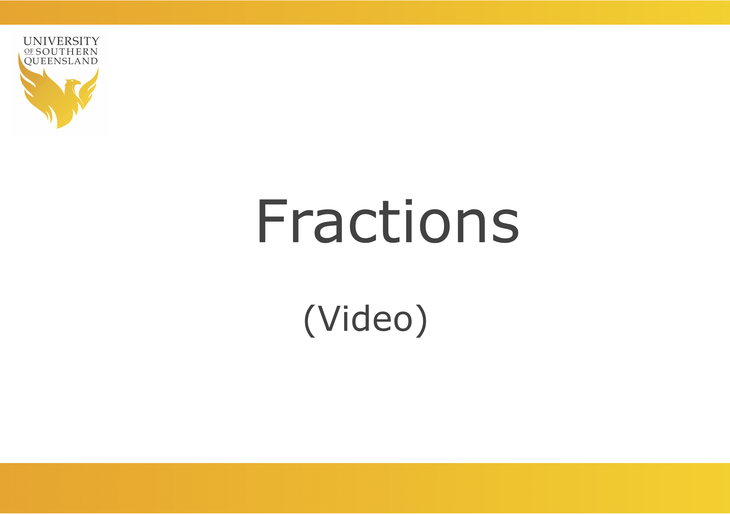 Link to video about fractions