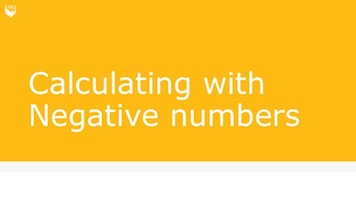 Calculating with negative numbers title slide