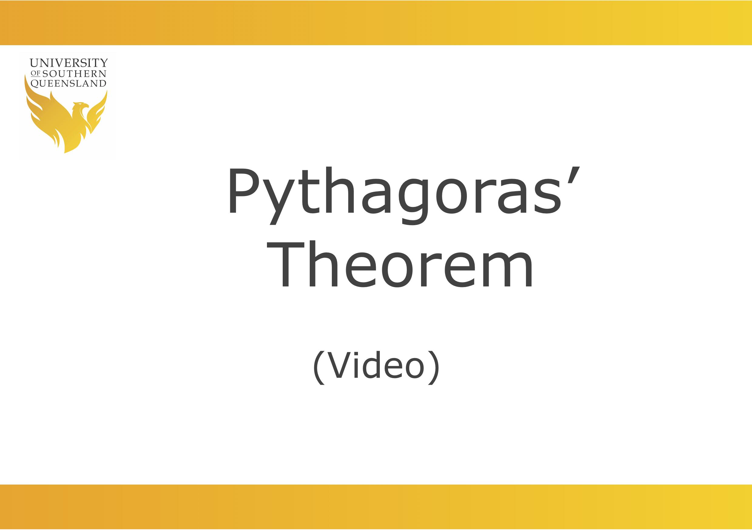 Pythagoras' Theorem video link