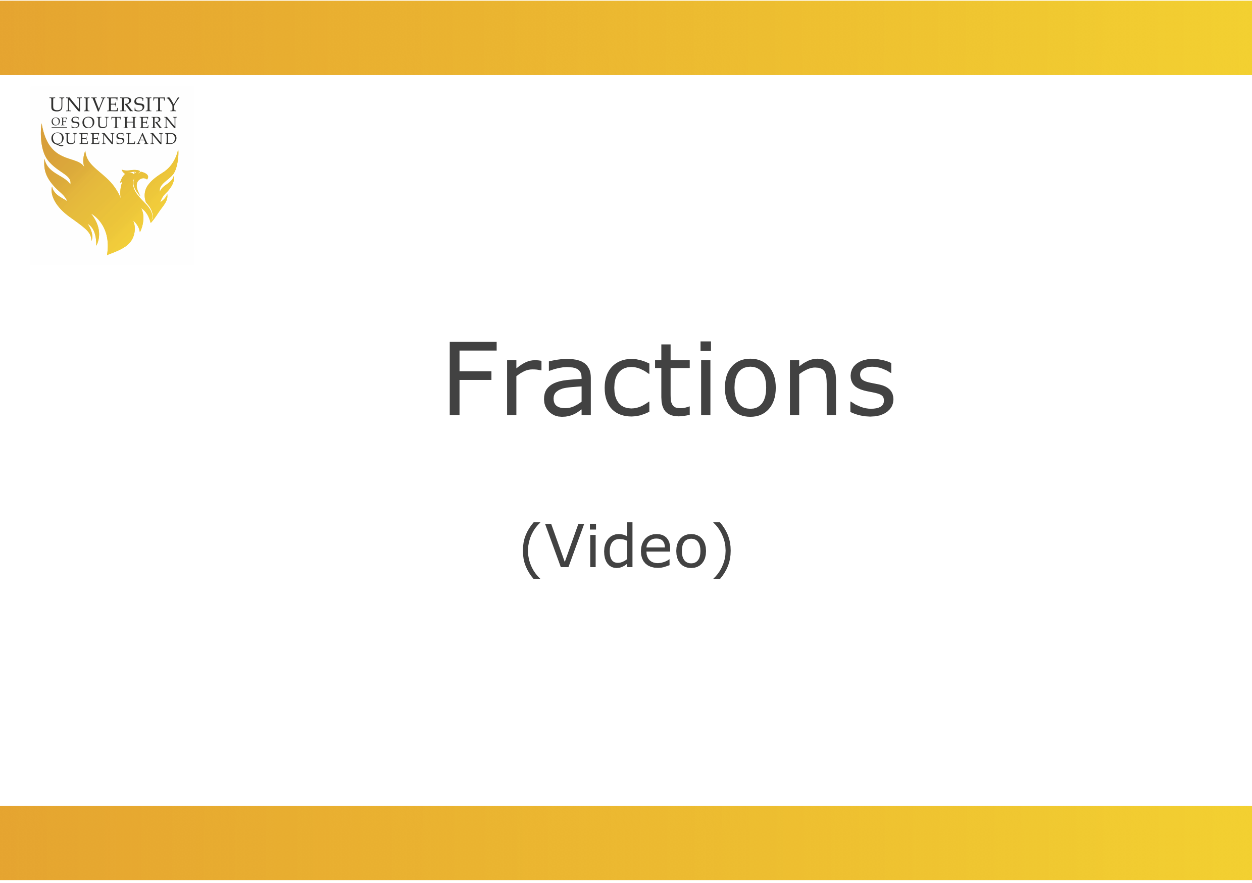 Fractions video