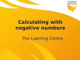 Calculating with negative numbers video