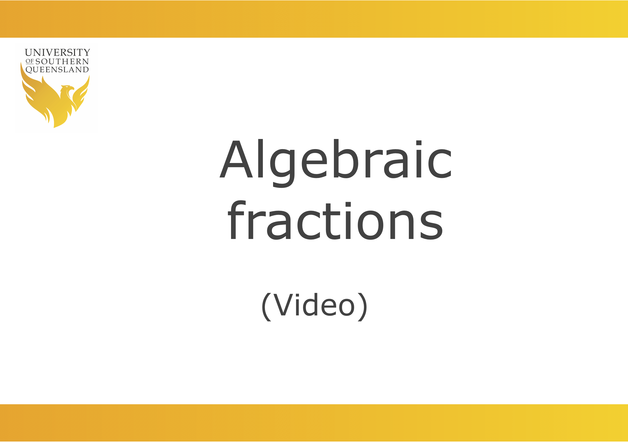 Cancelling with Algebraic fractions video
