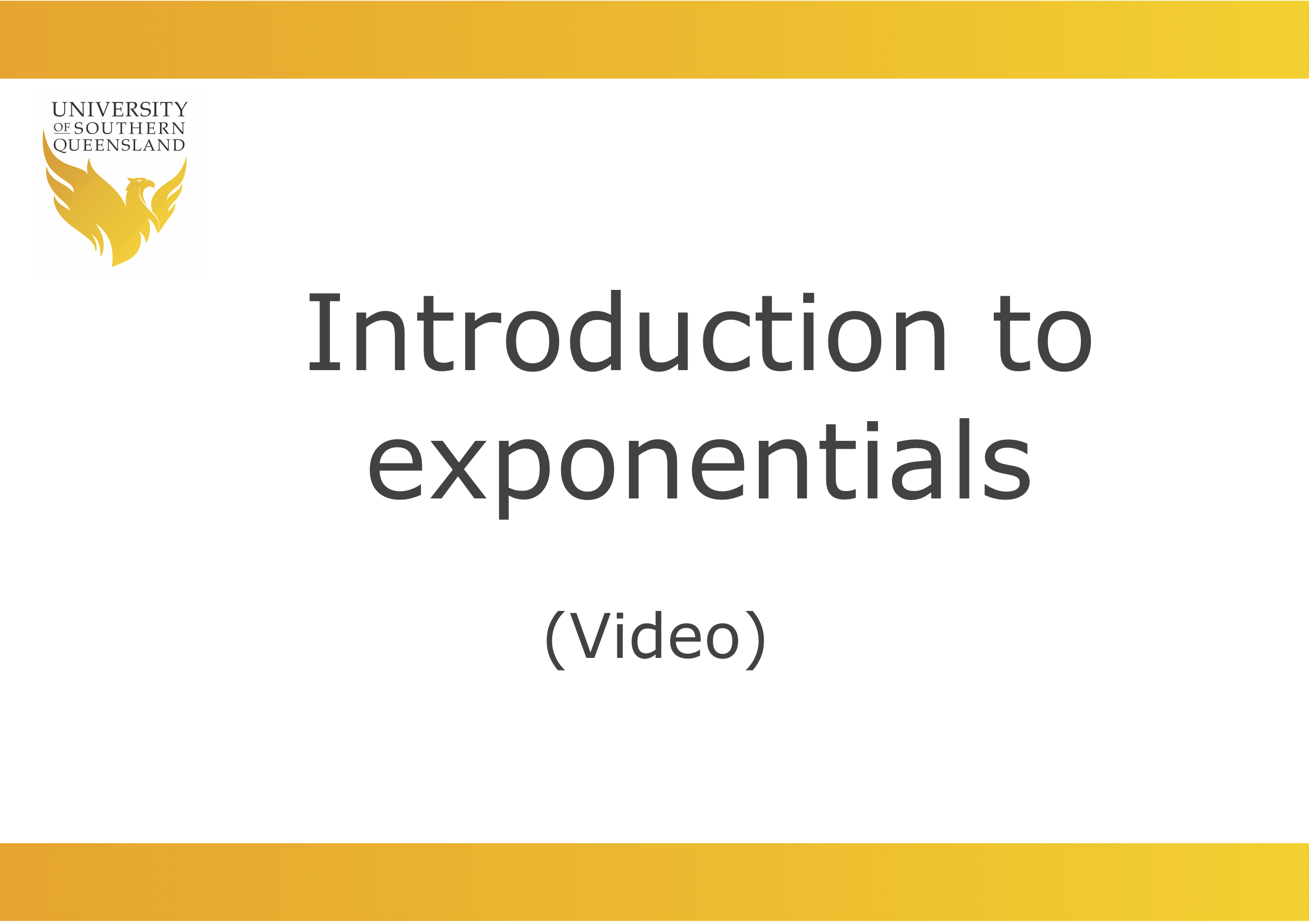 Introduction to exponentials video