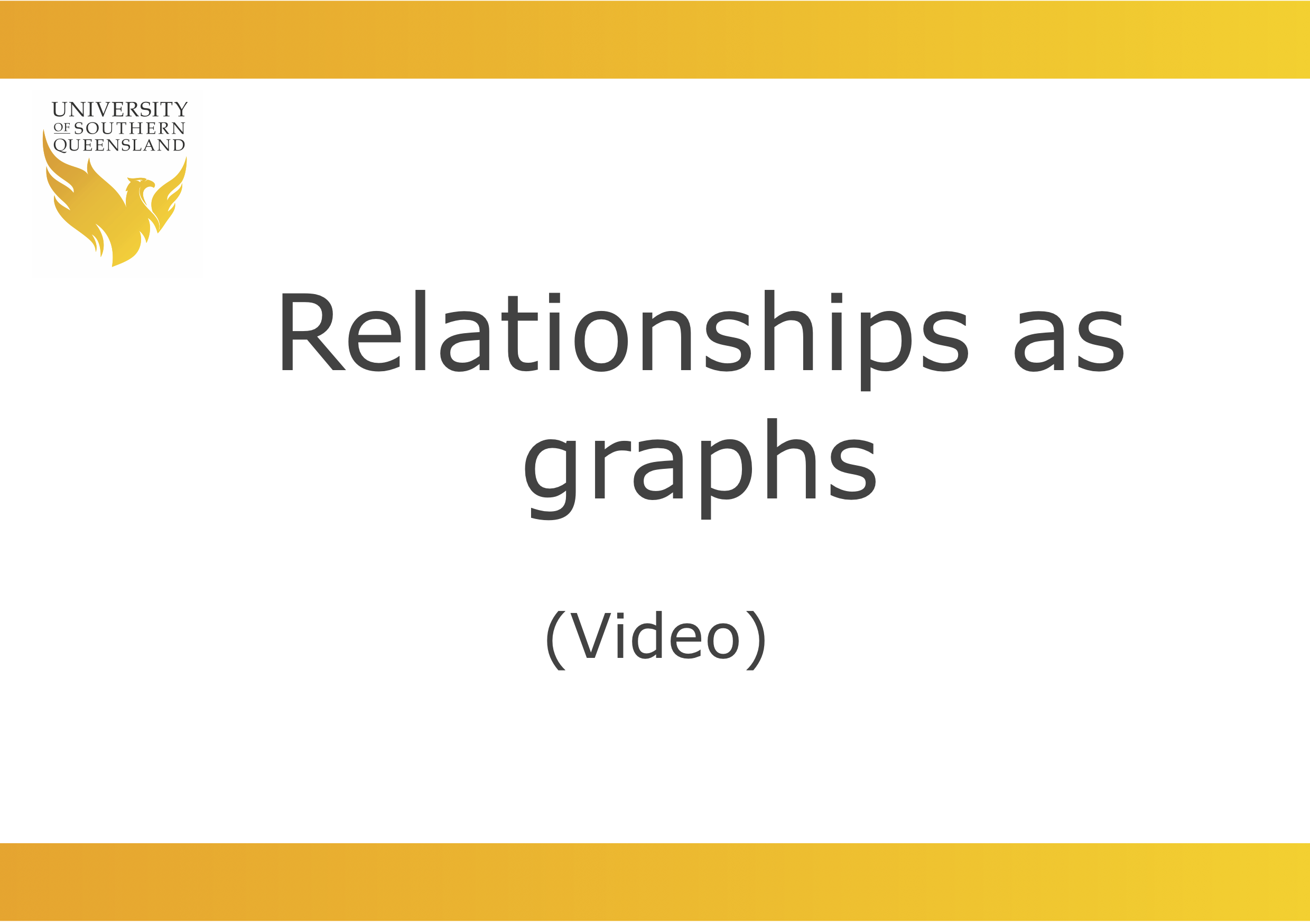 Video to play the video for Relationships as graphs