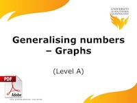 generaliseing numbers - graphs