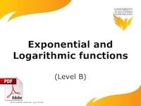 exponential and logarithmic functions