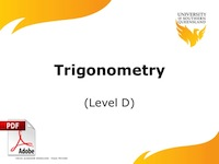 Trigonometry Level D