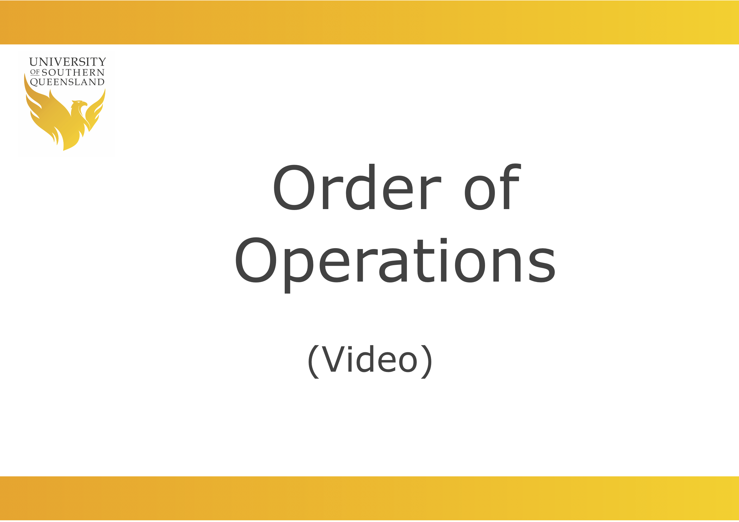 Image to click on to play the Order of Operations video.