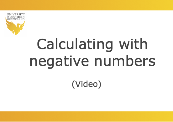 Click on the image to play the video for Calculating with negative numbers.