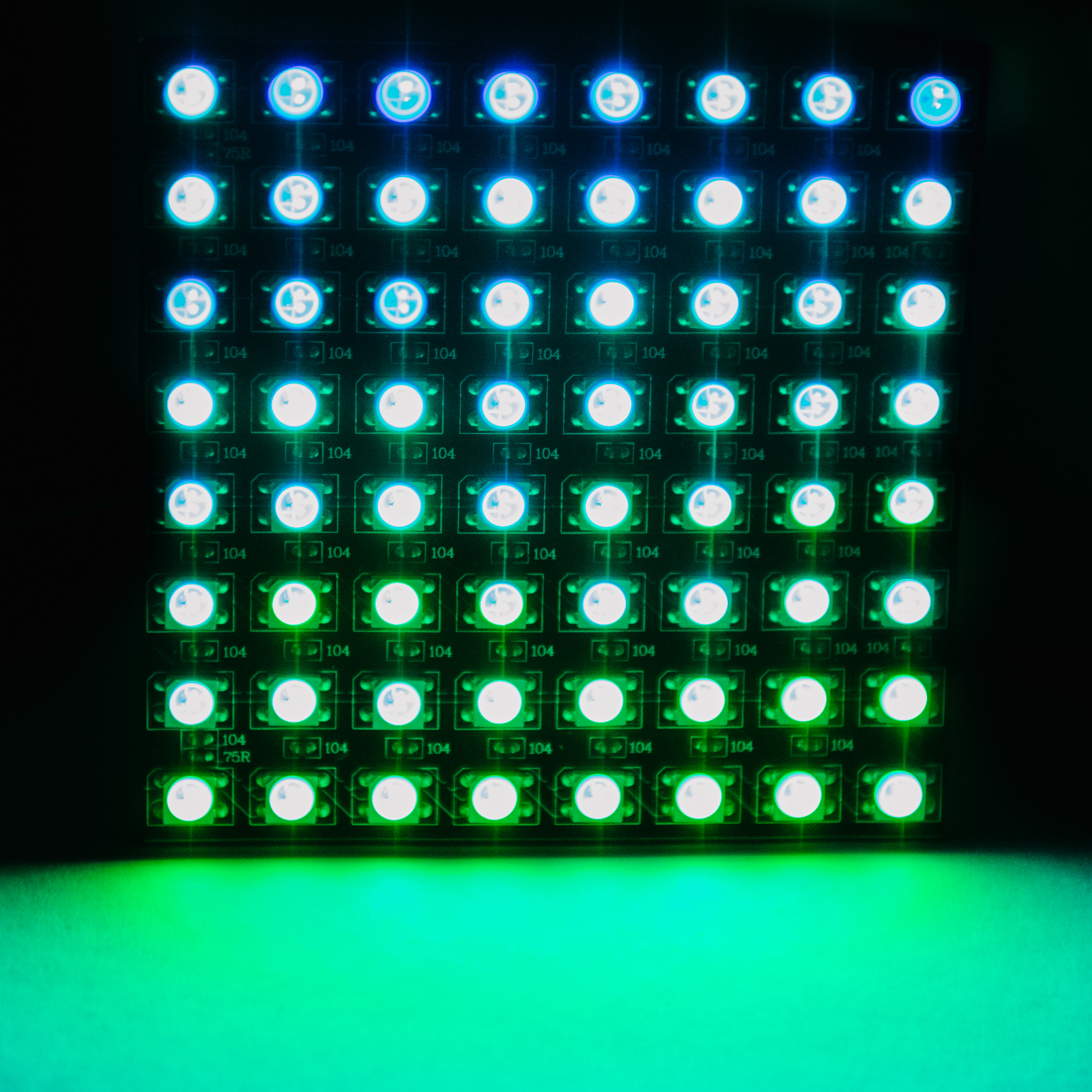 LED Matrix in the dark